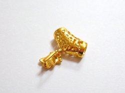 画像2: 紐通し付バチカン リボン 20mm×22mm ゴールド