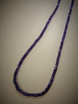 画像1: ジルコンボタンカット・紫