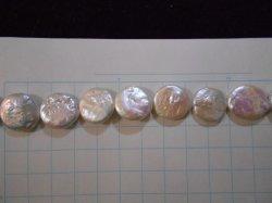画像2: 淡水パール コイン ホワイト